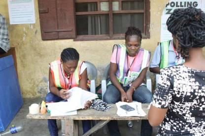 Electoral officers. Photo credit: Sahara Reporters Media